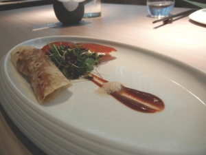Peking duck trio at HKK - try with a pinot